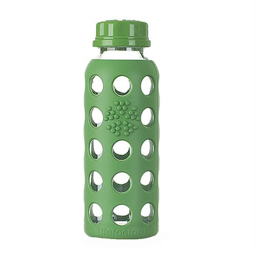 Lifefactory 9-Ounce Glass Beverage Bottle, Spring Green