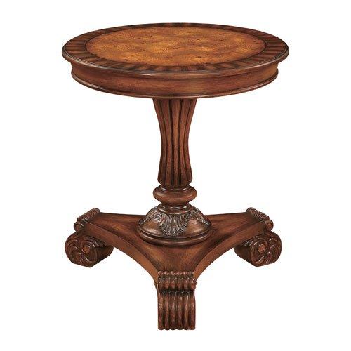 Cheap Coast to Coast Imports Gallatin Brown Round Pedestal End Table (B009PSSB9A)