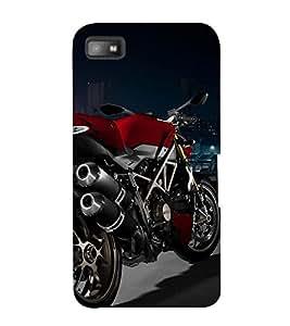 RED COLOUR RACING BIKE ON DISPLAY 3D Hard Polycarbonate Designer Back Case Cover for Blackberry Z10