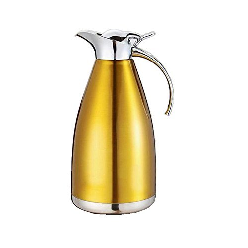 MEGOOD 1.5L Stainless Steel Coffee Carafe Home Vacuum Insulation Pot(Golden) (Double Walled Electric Kettle compare prices)