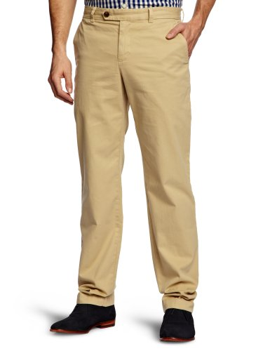 Brooks Brothers Milano Garment Dyed Twill Chino Straight Men's Trousers Khaki W32 INxL34 IN