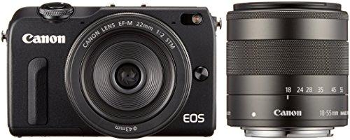 Canon ミラーレス一眼カメラ EOS M2 ダブルレンズキット(ブラック)