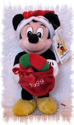 Disney 1999 Limited Edition Holiday Mickey Mouse Bean Bag