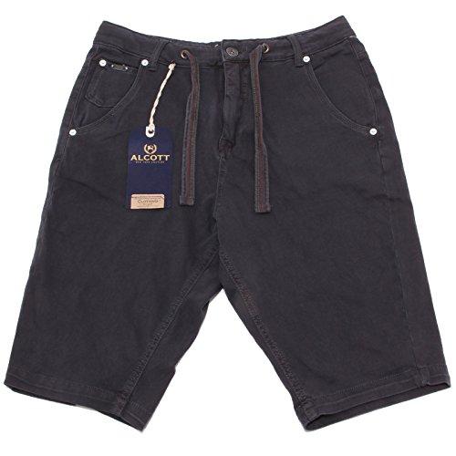 9685P bermuda uomo ALCOTT grigio scuro pantalone corto short men [46]