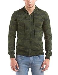 Shuffle Men's Cotton Sweatshirt (8907423024007_2021517201_Small_Olive)