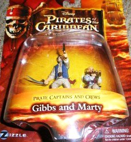 Pirates of the Caribbean At World's End Pirate Captains & Crews Series Gibbs and Marty Figure Set - 1