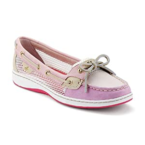 Sperry Top-Sider Womens 'Angelfish Slip-On' Boat Shoe,Rose Open Mesh,US 8.5