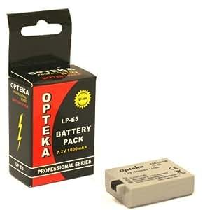 Opteka LP-E5 1800mAh Ultra High Capacity Li-ion Battery Pack for Canon