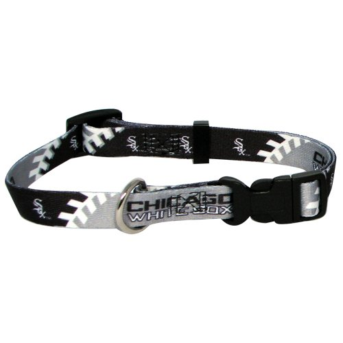 Mlb Chicago White Sox Adjustable Pet Collar, Xx-Small, Team Color front-898440