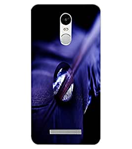 ColourCraft Feather and Drop Design Back Case Cover for XIAOMI REDMI NOTE 3