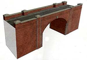 Superquick Red Brick Bridge / Tunnel - OO Gauge 1/72 Card Model Kit