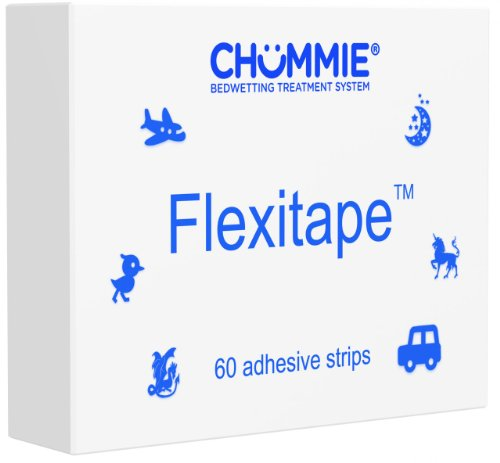 Chummie Quick Peel Easy Stick Flexitape For Bedwetting Alarm, Blue, 60 Count