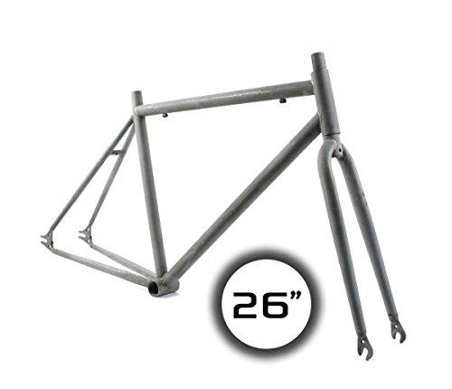 "'Ridewill Bike Kit Rahmen Fixed starr-26""Stahl roh ((starr)/Frame (HTML) City Fixed Gear 26Raw Steel (Fixed Frames)"