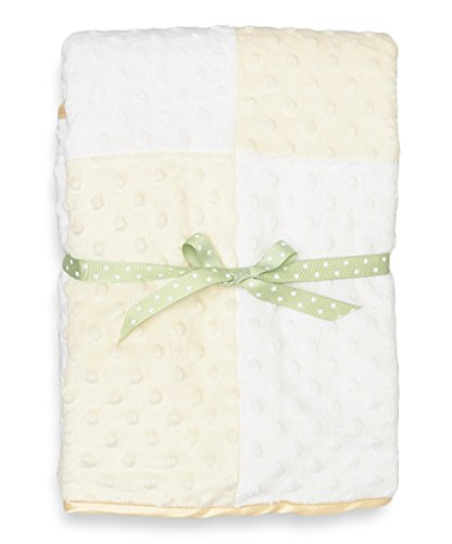 Spasilk Baby-Boys Newborn Minky Raised Dot Blanket with Satin Trim, Yellow, 30 Inchx40 Inch