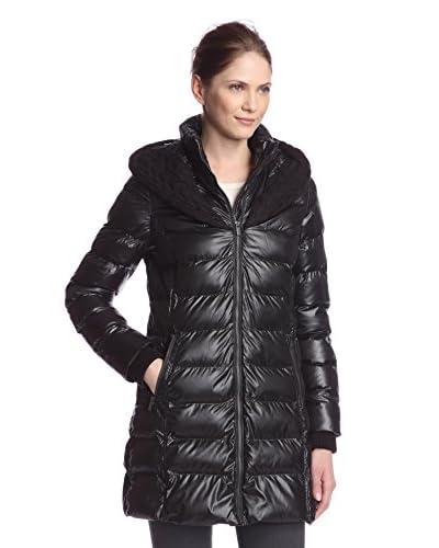 Rachel Rachel Roy Women's Cableknit Trim Hooded Puffer Coat