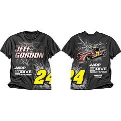 Buy Jeff Gordon #24 NASCAR Adult Electric T-Shirt - Black by NASCAR