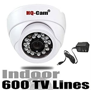 HQ-Cam® Security Surveillance Camera - 600TV Color Lines High Resolution 1/3
