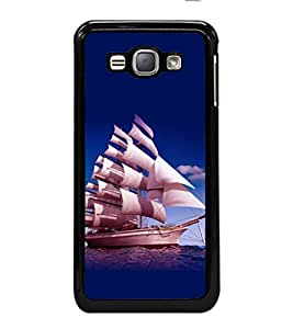 printtech Ship Water Sea Back Case Cover for Samsung Galaxy J1 (2016) :: Samsung Galaxy J1 (2016) Duos with dual-SIM card slots :: Galaxy Express 3 J120A (AT&T); J120H, J120M, J120M, J120T