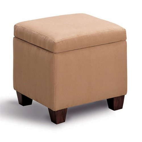 Accent Microfiber Cube Ottoman by Coaster Furniture