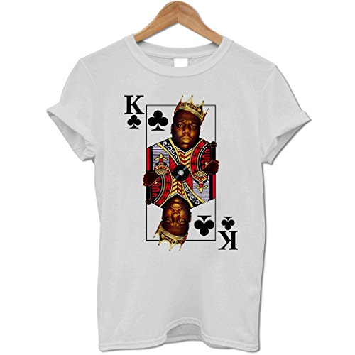 Bang Tidy Clothing Men'S Biggie Smalls King Of Clubs T Shirt Grey Xxl