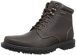 Rockport Men\'s Redemption Road Waterproof Plain Toe Boot, Dark Brown, 10 M US