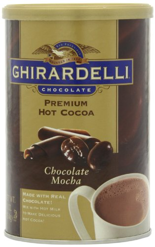 Ghirardelli Chocolate Premium Hot Cocoa Mix, Chocolate Mocha, 16-Ounce Cans (Pack of 4)