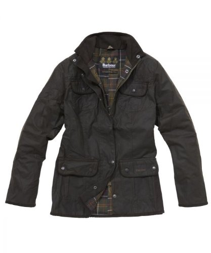 Barbour Ladies 4 Pocket Slim Fit Waxed Cotton