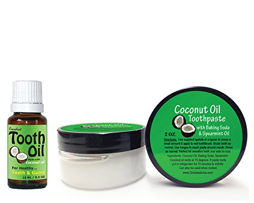coconut oil toothpaste and tooth oil kit for natural teeth and gum care. Black Bedroom Furniture Sets. Home Design Ideas