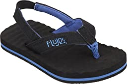 Flojos Kids Baby Boy\'s Tyke (Toddler) Black/Blue Sandal 6 Toddler M