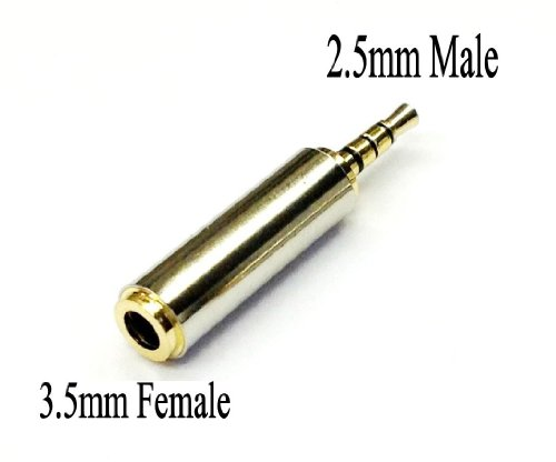 D & K Exclusives® Gold Plated 2.5Mm Male To 3.5Mm Female Audio Adapter Converter Headphone Earphone Headset Jack - Stereo Or Mono