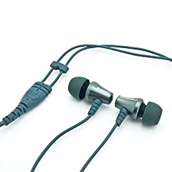 Brainwavz Jive Noise Isolating IEM Earphones With Remote & Mic For Apple iPhones, iPad, iPod & Other iOS Devices (Green-iOS)
