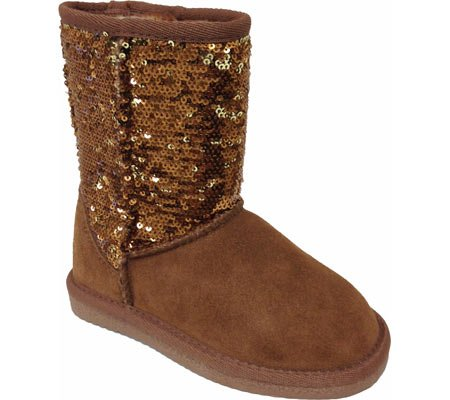 Gold Boots For Girls Girls' Sequin Boots,gold,2