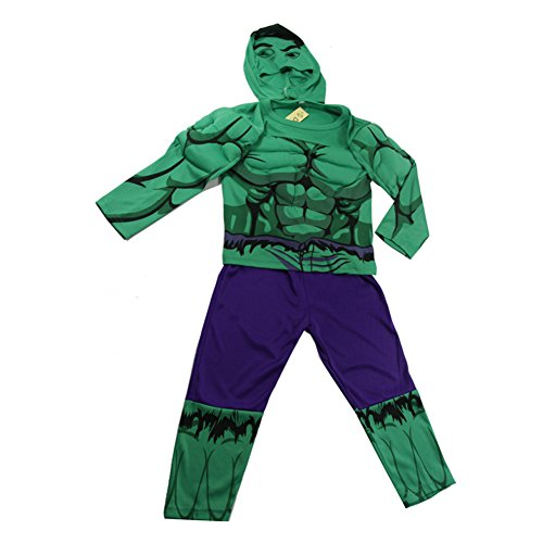 Oisk Universe Incredible Hulk Baby Boys Party Halloween Costume Set T-shirt Mask