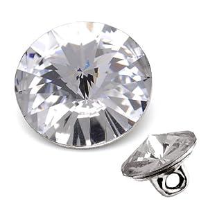 swarovski 1122 rivoli button 12mm crystal by 2pcs
