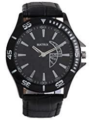 MATRIX Analog Black Dial Men's Watch-WCH-MN-BK-15-55