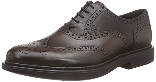 SamsoniteBUSINESS LOW 240 PUNCH.CRAFTED LEATHER TDM - Sneaker uomo , Marrone (Marron (tdm)), 45