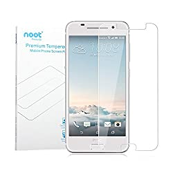 HTC One A9 Screen Protector, NOOTPRODUCTS Premium 9H 0.33mm Crystal Clear Tempered Glass with Anti Shatter Proof, Finger Print Proof and Scratch Proof for HTC One A9