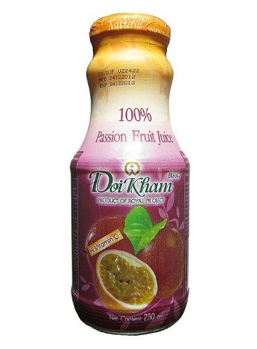 Doi Kham 100% Passion Fruit Juice 250 Milliliters (Pack Of 6)