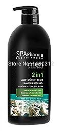 SPA Pharma Dead Sea Minerals Shampoo and Body Wash For Men Moisturizes 1000ml