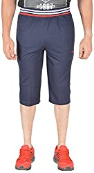 Okane Men's Cotton Capri (Kc-303 Navy _Xxl, Navy, Xxl)