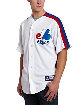 MLB Montreal Expos 1982 Cooperstown Short Sleeve Synthetic Replica Baseball Jersey... by Majestic