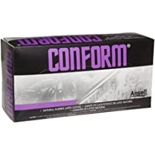 "Ansell Conform 69-210 Latex Glove, Powdered, Disposable, Rolled Beaded Cuff, 9"" Length, 5 mils Thick"
