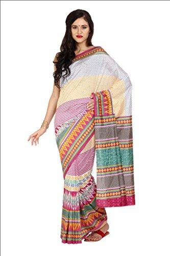 Parchayee Women Synthetic Sarees (93314 _White _Free Size)
