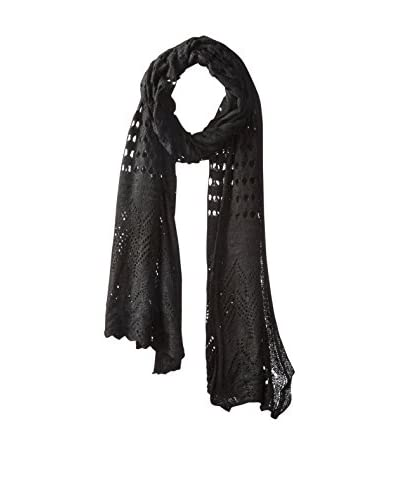 A&R Cashmere Women's Breezy Knit Wrap, Black