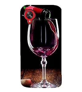 99Sublimation Red wine 3D Hard Polycarbonate Back Case Cover for LG Nexus 5 :: LG Google