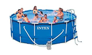 Intex 15-Foot by 48-Inch Metal Frame Pool Set (Discontinued by Manufacturer)