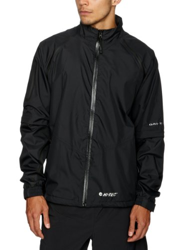 Hi- Tec Sports Mens GR500 Full Zip Jacket - Black/Black, Small