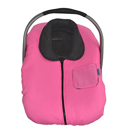 Tivoli Couture Infant Car Seat Jacket and Weather Cold Resistant Car Seat Cover Bunting, Blooming Pink