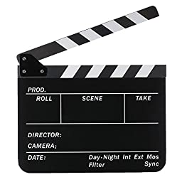 Neewer® Acrylic Plastic 10x12in/25x30cm Dry Erase Director\'s Film Movie Clapboard Cut Action Scene Clapper Board Slate with White/Black Sticks