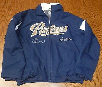 Mat Latos Signed 2011 Game Used San Diego Padres Jacket COA Auto Reds XL - PSA/DNA Certified - Game Used MLB Autographed Items
